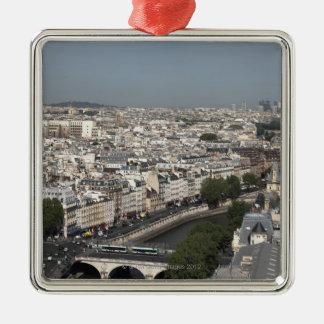 パリの空中写真 メタルオーナメント