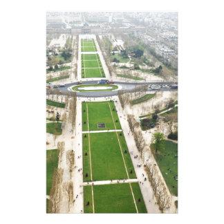 パリの空中写真 便箋