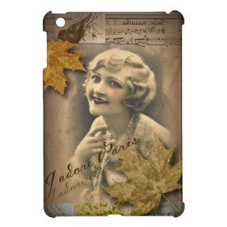 パリの紅葉のヴィンテージ1920年のすばらしいgatsby女の子 iPad miniケース