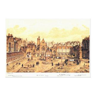 パリの聖者の潔白な人の墓地の版木、銅版、版画 キャンバスプリント