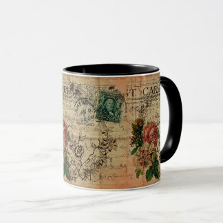 パリの花の郵便料金デザイナーマグ マグカップ