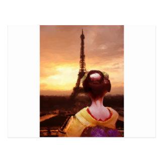 パリの芸者 ポストカード