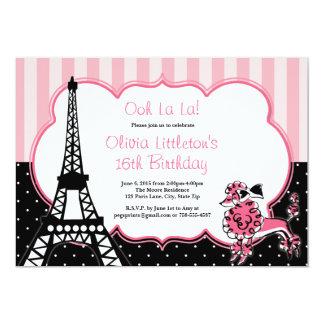 パリの誕生日の招待状の菓子16 カード