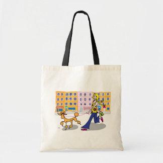 パリの買い物袋のプードル トートバッグ