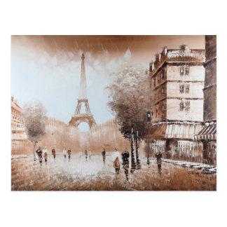 パリの通りの郵便はがき ポストカード