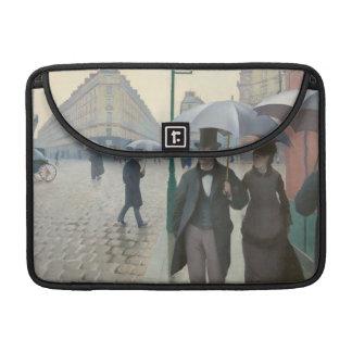 パリの通り; 雨の日別名パリ: 雨の日 MacBook PROスリーブ