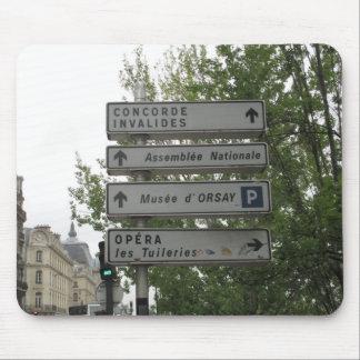 パリの道路標識、フランス マウスパッド