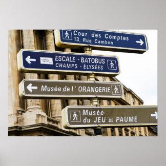 パリの道路標識 ポスター