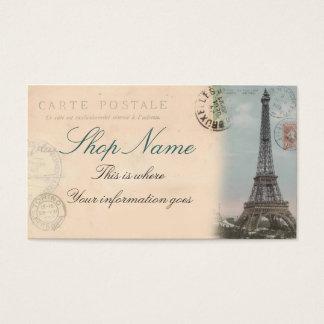 パリの郵便はがきの名刺 名刺