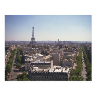 パリの都市景観、パリ、フランス ポストカード