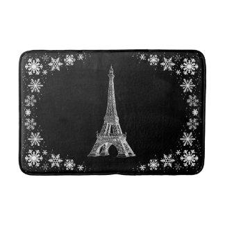 パリの雪の白黒バス・マット バスマット