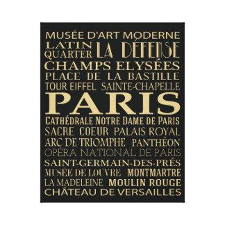 パリの魅力 キャンバスプリント