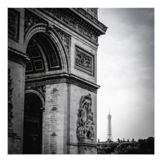 パリの黒及び白 フォトプリント