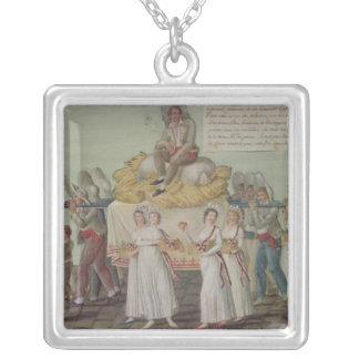 パリの1796年に農業の饗宴 シルバープレートネックレス