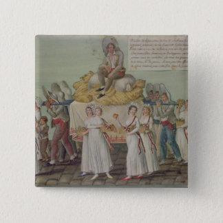 パリの1796年に農業の饗宴 5.1CM 正方形バッジ