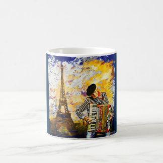 パリのAccordionist コーヒーマグカップ