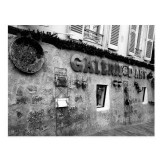 パリのGalerie de Artの白黒写真 ポストカード