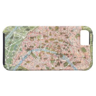 パリのiPhone 5の場合の地図 iPhone SE/5/5s ケース