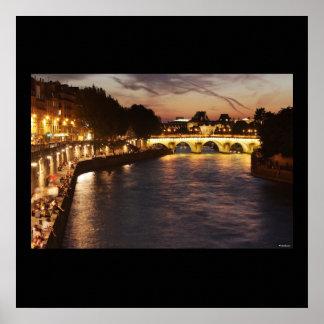 パリのSeine川 ポスター
