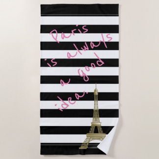 パリはよいアイディアのビーチタオル常にです ビーチタオル