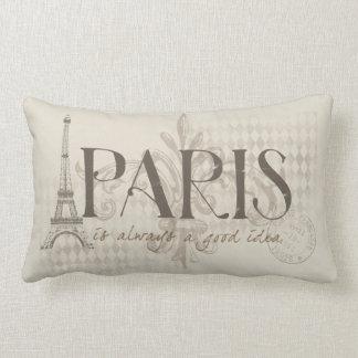 パリはよいアイディアの枕常にです ランバークッション
