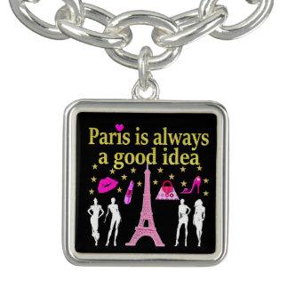 パリはよいアイディア常にです チャームブレスレット