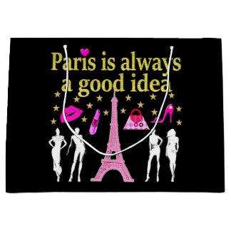 パリはよいアイディア常にです ラージペーパーバッグ