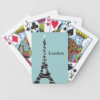 パリはターコイズポーカーカードのどこでも光っています バイスクルトランプ