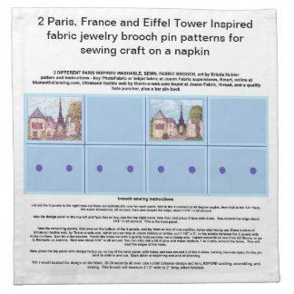 パリはナプキンの芸術のブローチPinパターンをインスパイア ナプキンクロス