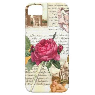 パリは場合iPhone4上がりました iPhone SE/5/5s ケース