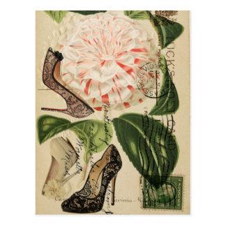 パリは花のフランスのな植物の芸術に蹄鉄を打ちます ポストカード