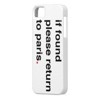 パリへの見つけられたリターンなら iPhone SE/5/5s ケース