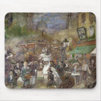 パリを描写する装飾的なパネル マウスパッド