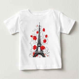パリエッフェル塔のエレガントでスタイリッシュなシルエット ベビーTシャツ