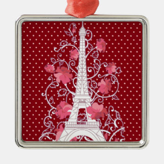 パリエッフェル塔のエレガントでスタイリッシュなシルエット メタルオーナメント