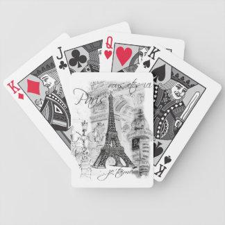 パリエッフェル塔のコラージュ バイスクルトランプ