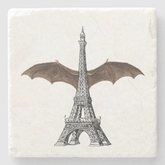 パリエッフェル塔のゴシック様式こうもりの翼の石のコースター ストーンコースター