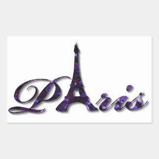 パリエッフェル塔のスパンコールのグリッターの輝き 長方形シール