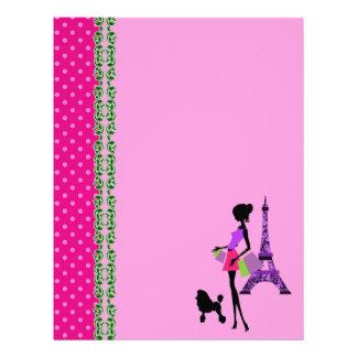 パリエッフェル塔のテーマのスクラップブックの紙 レターヘッド