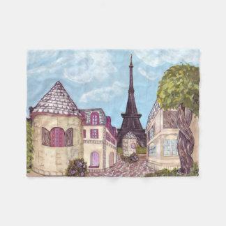 パリエッフェル塔の刺激を受けたな景色毛布 フリースブランケット
