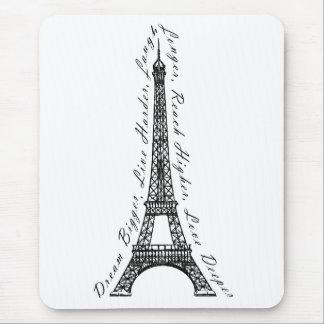 パリエッフェル塔の夢のより大きい感動的 マウスパッド