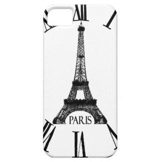 パリエッフェル塔の時計のフランス語 iPhone SE/5/5s ケース