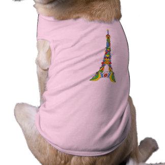 パリエッフェル塔の破裂音芸術のスタイリッシュなシルエット ペット服