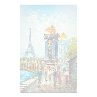 パリエッフェル塔場面の絵画 便箋