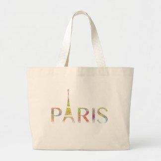 パリエッフェル塔色のしぶきのジャンボトートバック ラージトートバッグ
