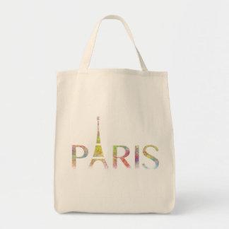 パリエッフェル塔色のしぶきの食料雑貨のトートバック トートバッグ