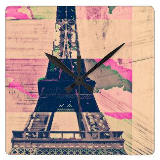 パリエッフェル スクエア壁時計