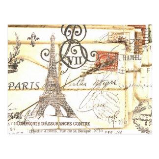 パリガーリーでシックでロマンチックな花のエッフェル塔 ポストカード