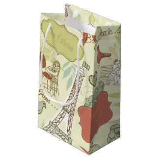 パリパターンの愛 スモールペーパーバッグ