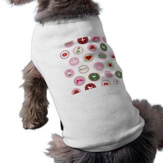 パリピンクの愛ガーリーなパターン ペット服